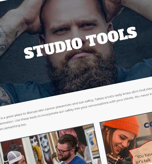 Studio Tools Header